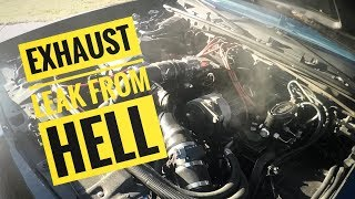 """The Exhaust leak from Hell and 5"""" Down-pipe Modifications for the Buick Grand National"""