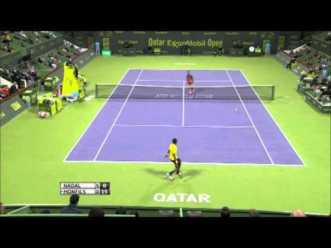 Doha 2014 Final Highlights: Nadal vs. Monfils