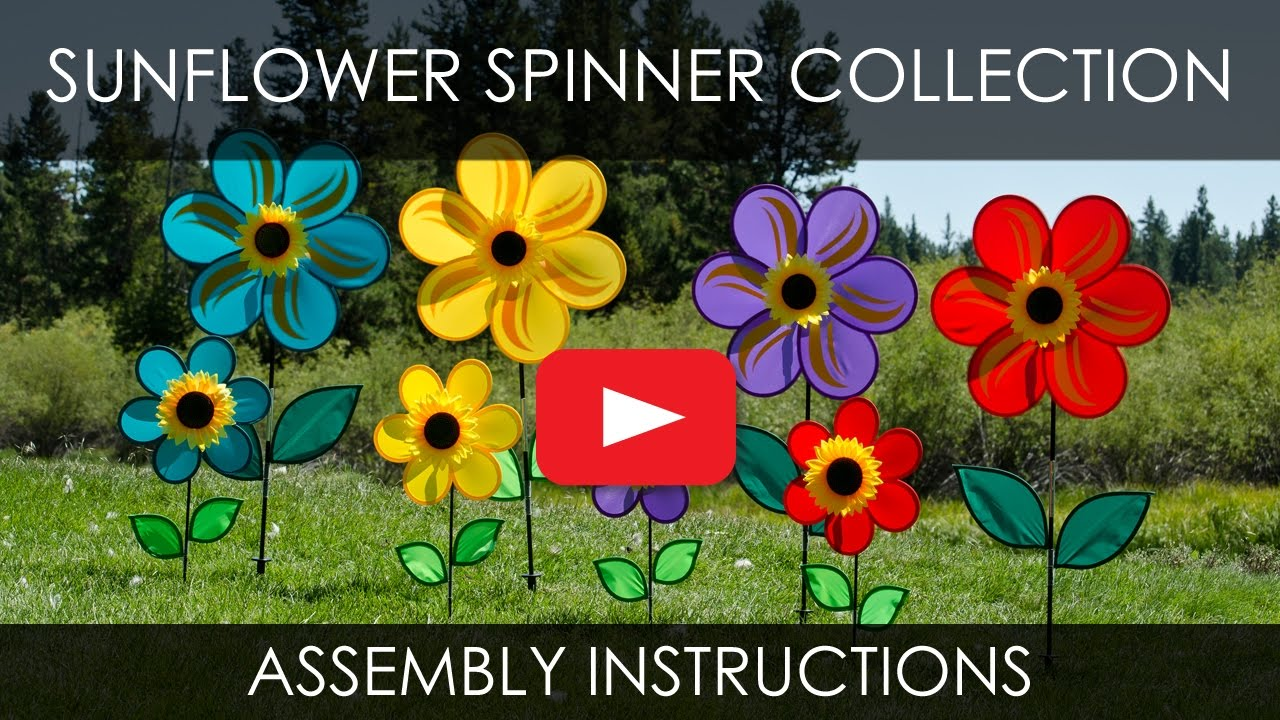 Sunflower Spinner Assembly Instructions - In the Breeze - YouTube