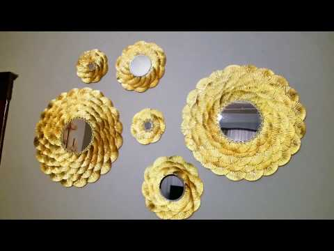 DIY Gold Mirror Decor / Large and Small gold mirrors