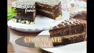 chocolate cake decorating
