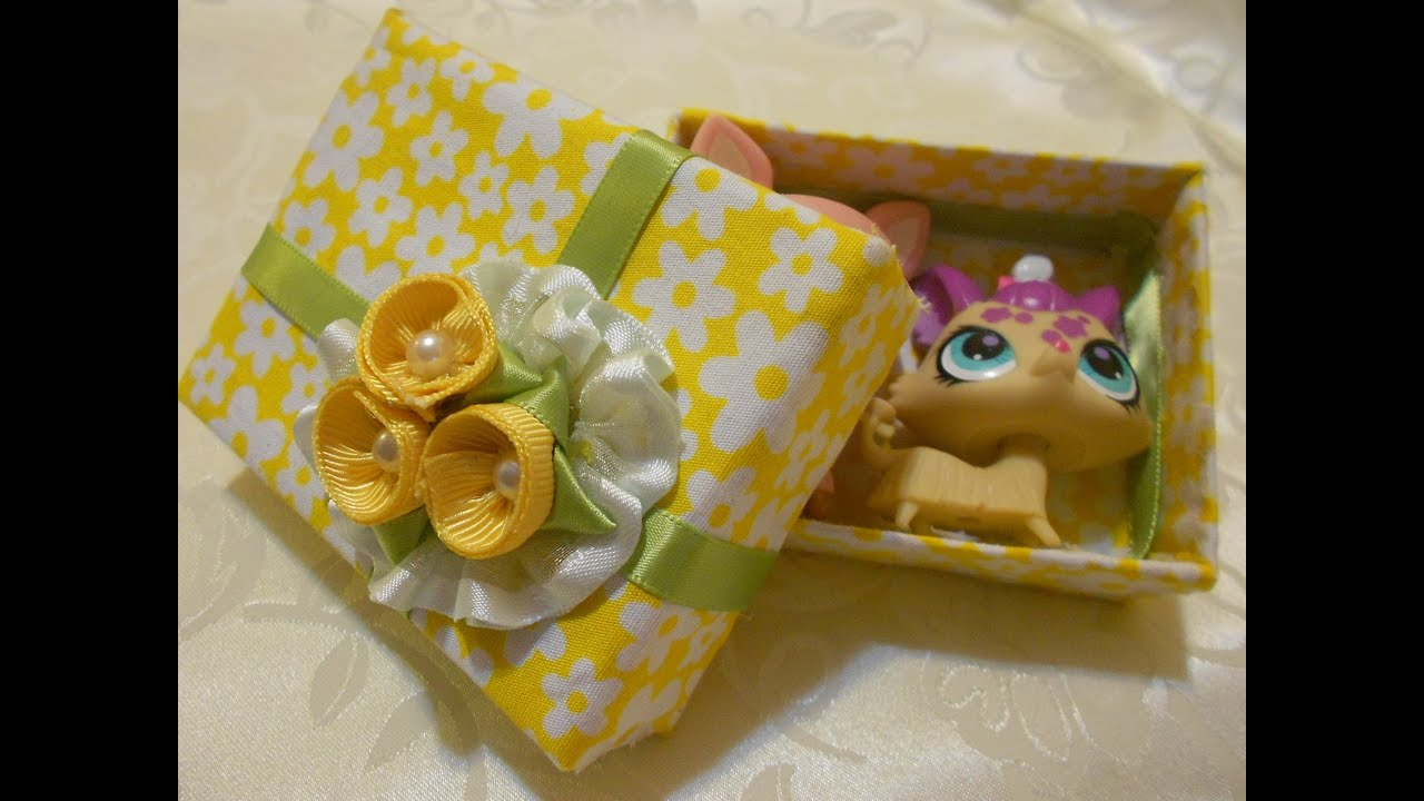 How to Make a Beautiful Recycle Gift Box (Fabric) - YouTube