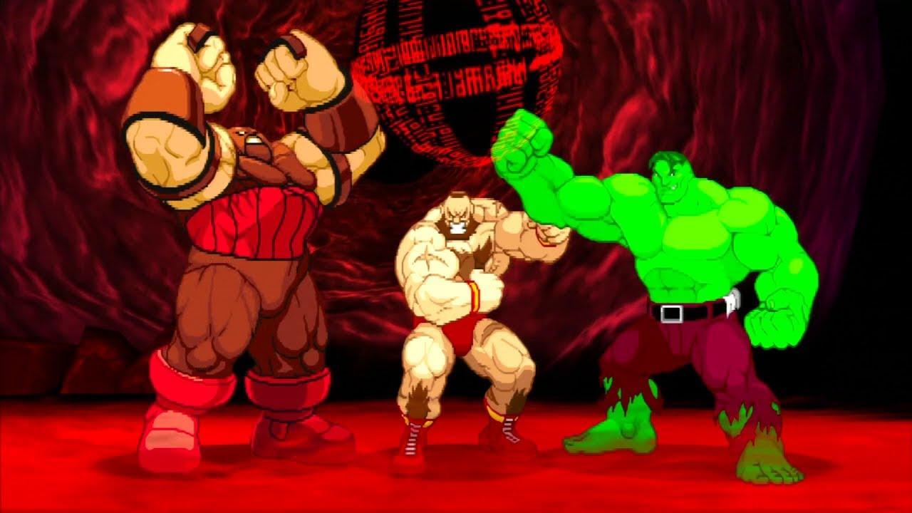 Red Hulk Vs Trion Juggernaut: Zangief/Hulk/Juggernaut