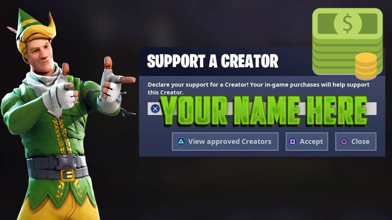 Get a Code for Support A Creator Fortnite - YouTube