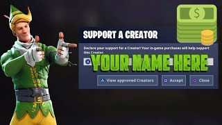 Get a Code for Support A Creator Fortnite