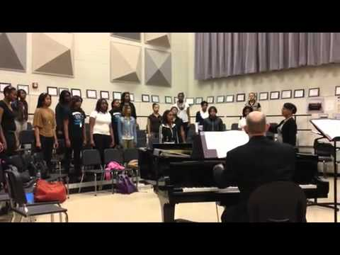 Detroit School of Arts Madrigals rehearsal