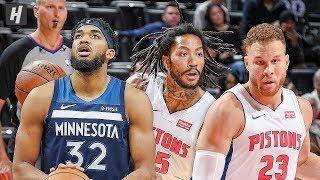 Minnesota Timberwolves vs Detroit Pistons - Full Highlights | November 11, 2019 | 2019-20 NBA Season