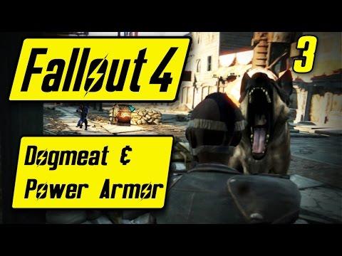 Fallout 4 Dogmeat & Power Armor - MINIGUNNING DEATHCLAW - Fallout 4 Walkthrough Part 3 - Let's Play