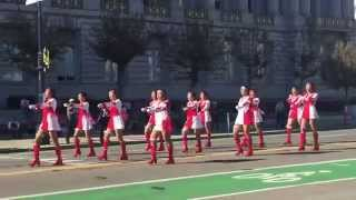 Lowell High School Exhibition Drill Team Veterans Day Parade 2014