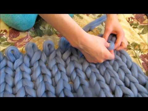 как сделать плед своими руками из пряжи