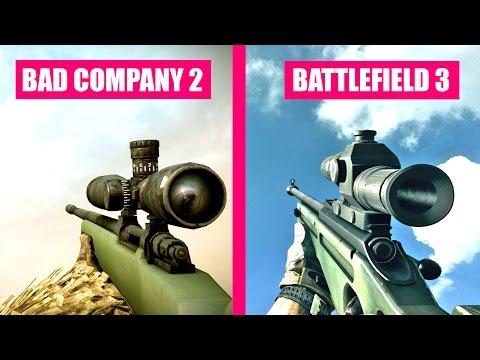 Battlefield 3 Gun Sounds vs Battlefield Bad Company 2