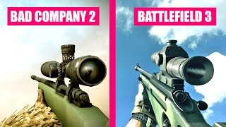 Battlefield 3 Gun Sounds vs Battlefield Bad Company 2