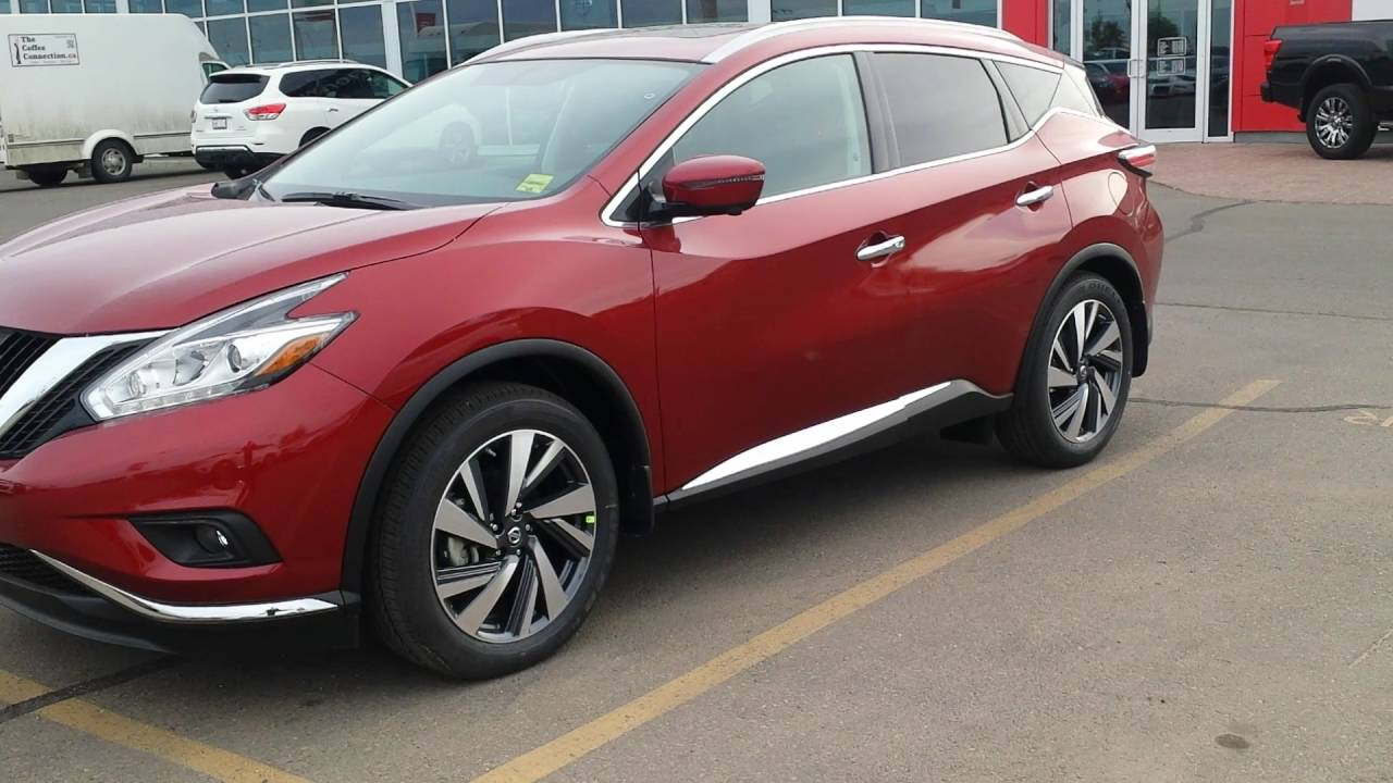 Nissan Murano 2017 Red >> 2016 Nissan Murano Platinum Cayenne Red Youtube