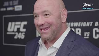 """Conor looked DAMN good!"" Dana White on McGregor's UFC 246 comeback"