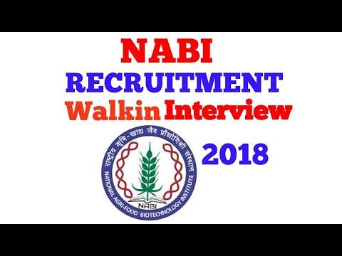 NABI Recruitment 2018||Job2018||B.tech||B.E||M.E||M.TECH||BDS||DENTAL SURGERY||M.PHIL||PHD