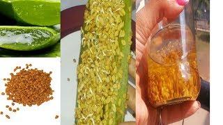 How to Make Methi oil at Home DIY Fenugreek Hair Oil Homemade Methi Oil Aloe Oil for Hair Growth