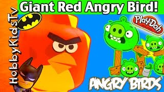 Giant ANGRY BIRD Play-Doh Lego Head Makeover
