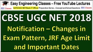 CBSE UGC NET 2018 Notification – Changes in Exam Pattern, JRF Age Limit and Important Dates