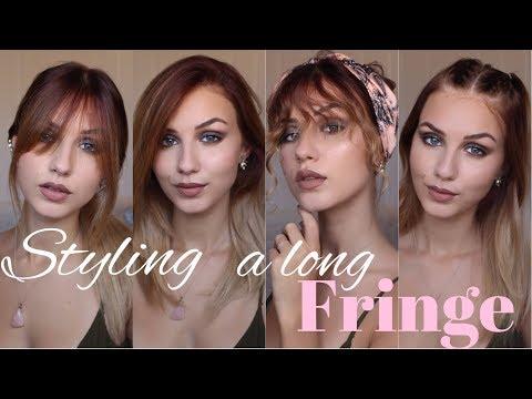 5 ways to Style a long Fringe   Stella
