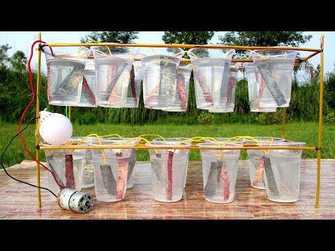 Free energy light bulb using salt at home