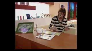 Rosita Zacarías - Bienvenidas TV - Pinta en Falso Acabado una Imitación Mármol sobre Vidrio.