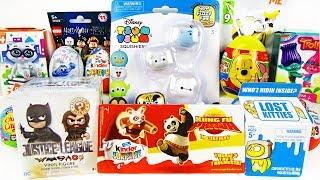 15 Киндер Сюрпризов, Unboxing Kinder Surprise Котята LOST KITTIES,Маша и Медведь,LEGO, Дисней,Лунтик