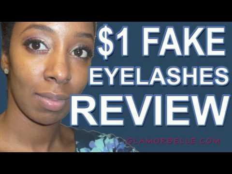★ $1 Fake Eyelashes! ELF False Eye Lashes Kit Review - YouTube