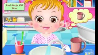 Бесплатные игры онлайн  Baby Hazel Brushing Time  Малышка Хейзел Время уборки, игра для девочек