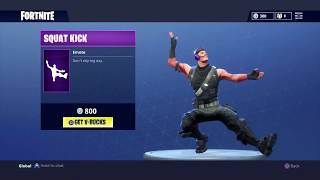 "*NEW* ""SQUAT KICK"" EMOTE/DANCE on 17 DIFFERENT SKINS! - Fortnite Battle Royale"