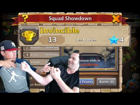 JT With Best Friend Stevo INVINCIBLE Squad Showdown Castle Clash