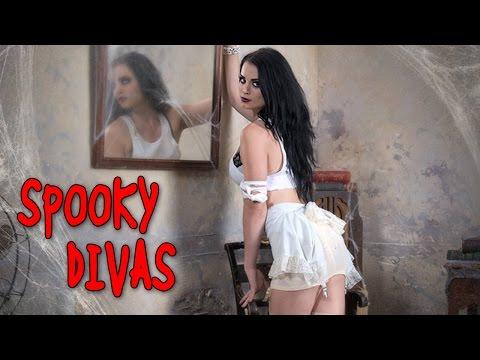 WWE Divas take part in a spooky Halloween themed photo shoot