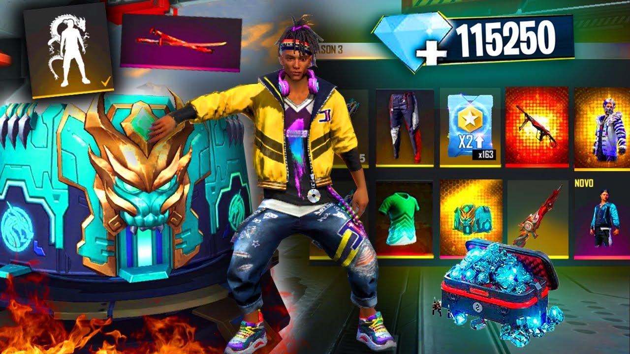 ¡BUYING 115250 DIAMONDS💎 EXCLUSIVE PACK AND ANGELICAL SET🤩 On TOP SECRET server!🤯