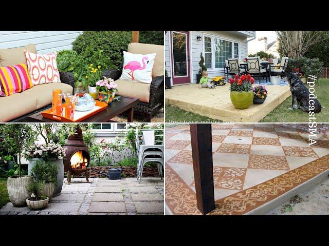 10 ideas how to makeover concrete patio