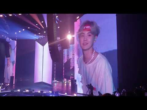 190320 BTS World Tour Love Yourself Hong Kong - Answer: Love Myself (Park Bo Gum leaving)
