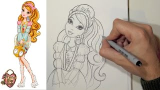 Como desenhar a Ashlynn Ella de Ever After High passo a passo
