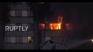 A figure was visible in the window of the burning Grenfell tower bl...