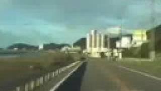 [V0098] 030601 淡路島から大鳴門橋で大毛島と高島を周遊して小鳴門橋や小鳴門大橋や撫養橋で四国へ渡る Japanese country roads; Tokushima Naruto