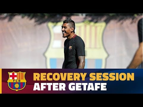 FC Barcelona: Recovery session after visiting Getafe