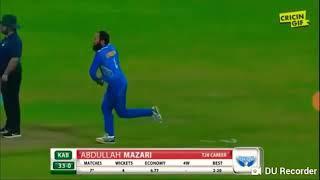 Six sixes in a over.break yuvraj singh record.50 on 10 balls.apl2018 t20 league.hajratullah afgani.