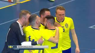 Höjdpunkter: Seger med uddamålet för futsallandslaget - TV4 Sport