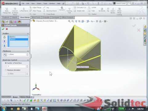 Solidworks sheet metal tutorial