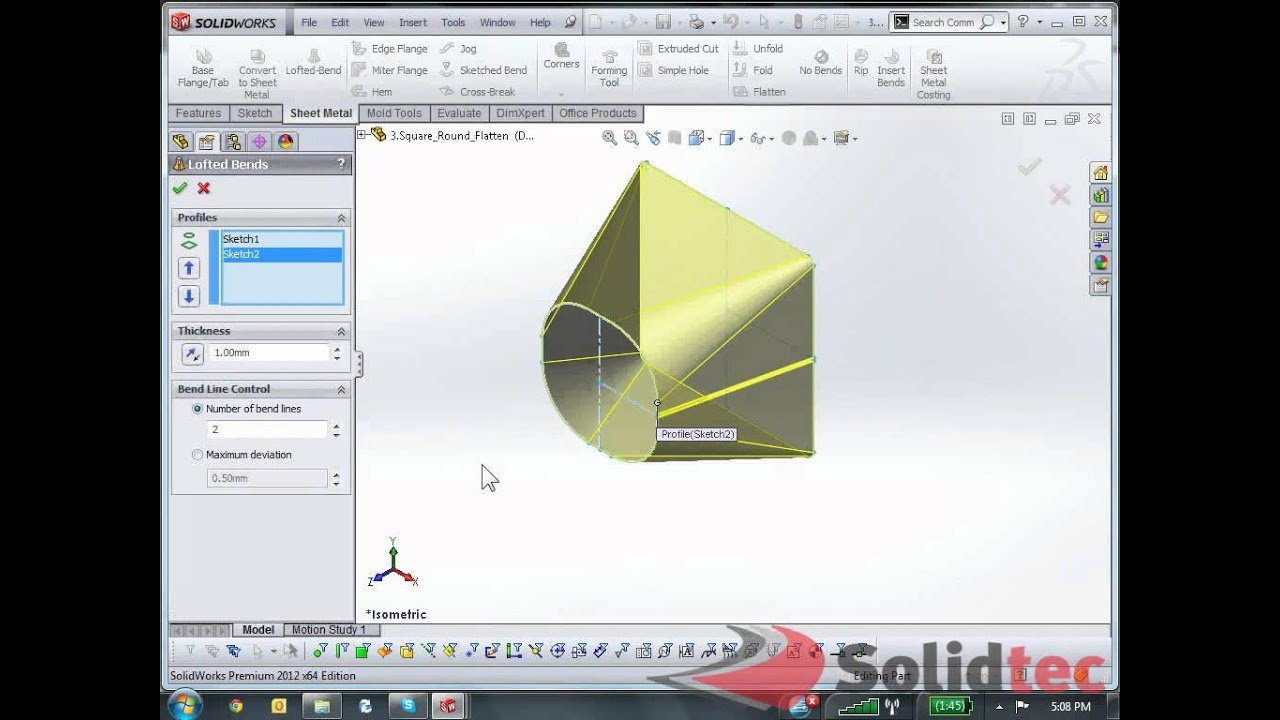 Solidworks Sheet Metal Flat Patterns Youtube