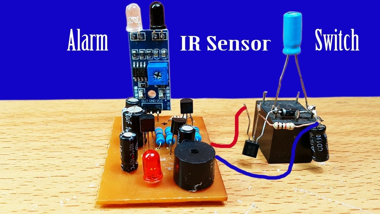 How To Make Alarm Or Light Switch By Using Ir Sensor Circuit At Home Diagram