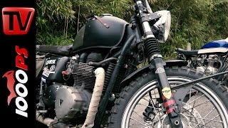 1500 Kilometer auf Triumph Rat Bike | Jan von BeUnique am Wheels and Waves 2016