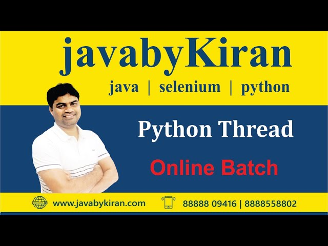 Python Thread-- by java by Kiran   java classes in pune   python classes in pune