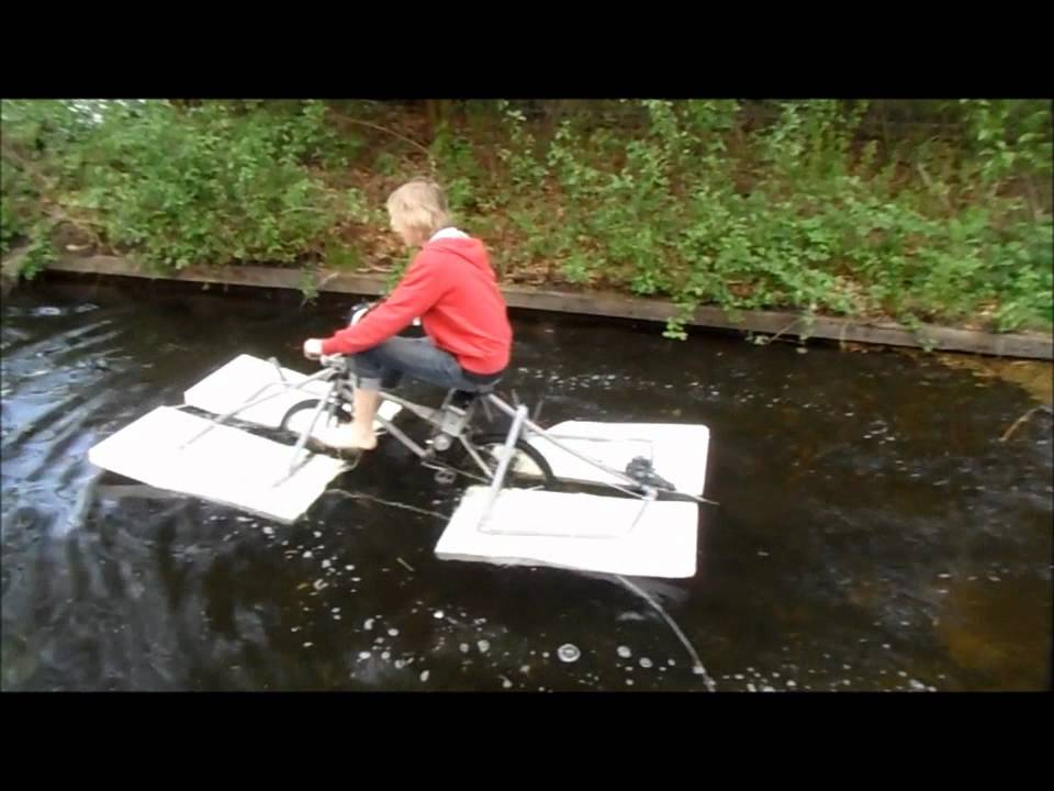 The 50 Amphibious Bicycle Home Made Part 2 Youtube