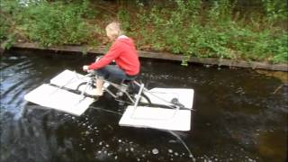the $50 amphibious bicycle home made part 2