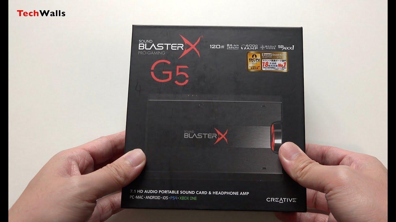 Creative Sound BlasterX G5 External Sound Card with Headphone Amplifier  Unboxing