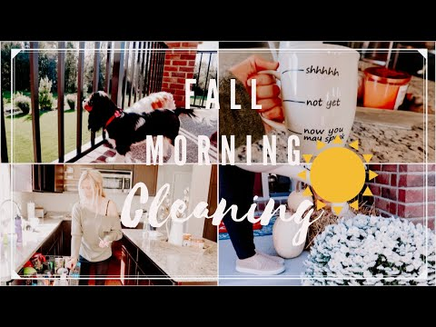 FALL MORNING CLEANING  MOTIVATION | CLEAN WITH ME
