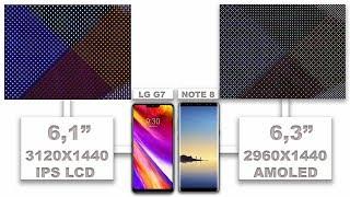 LG G7 ThinQ VS Samsung Galaxy Note 8 display quality